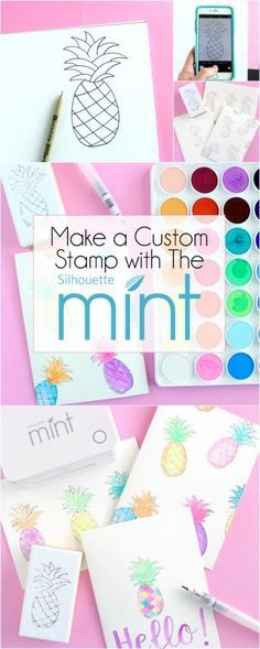 Make a Custom Stamp with the Silhouette Mint™ + a FREE Hand-Drawn Pineapple Design | DawnNicoleDesigns.com