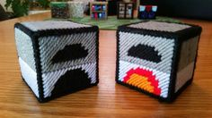 Plastic Canvas Pattern for Minecraft Furnace Pc Minecraft, Minecraft Pattern, Minecraft Crochet, Minecraft Creations, Minecraft Crafts, Minecraft Bedroom, Minecraft Skins, Plastic Canvas Tissue Boxes, Plastic Canvas Crafts