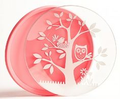 Brinware ~ tempered glass plates with colorful silicone sleeves. Micro and Dishwasher safe.