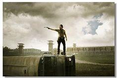 Poster Rick Grimes Scrool Zombie Apocalypse The walking Dead Sword Art Online(SAO) American Slik
