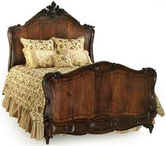 i would LOVE an antique wood bed frame like this, it would look so out of place but perfect in a barn house. Classic Furniture, Art Furniture, Vintage Furniture, Furniture Design, Antique Beds, Dreams Beds, Wood Beds, Bed Styling, How To Antique Wood