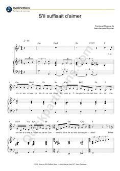 Partition Piano S'il Suffisait D'aimer - Céline Dion                                                                                                                                                                                 Plus