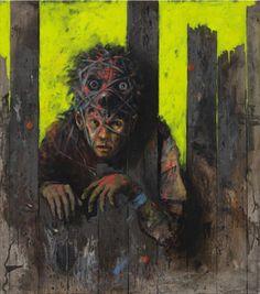 Jonas Burgert Title: Dachte ihn mir blind - Year: 2010 Material: Oil on canvas - 90 x 80 cm