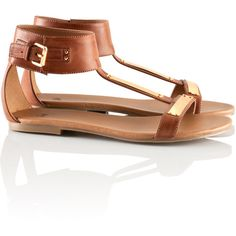 H&M Sandals (54 BAM) ❤ liked on Polyvore featuring shoes, sandals, flats, sapatos, h&m, flat heel shoes, embellished shoes, h&m shoes, embellished flat shoes and h&m flats