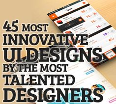 Most Innovative UI Designs Concepts Bt The Most Ttalented Designers