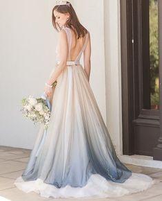 39c85784d79c8 57 Best ombre wedding dress images | Cute dresses, Formal dresses ...