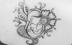 Resultado de imagem para tatuagens de mandala de maternidade