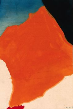 1665 - ORANGE LOZENGE | ABSTRACT PAINTING BY HELEN FRANKENTHALER