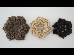 Häkelblumen * 3 Größen * Anleitung - YouTube