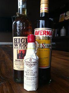 Black Manhattan - rye or bourbon, averna, chocolate bitters (i used walnut to great effect)