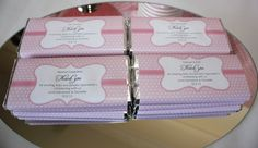 Personalised Christening chocolate wrappers. View larger image