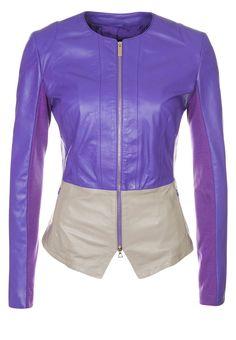 Annarita N  Leather jacket - purple