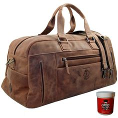 Perfect for the short trips: the travel bag GAUGUIN of ECO-leather of the Collection BARON of MALTZAHN® - A long-lasting companion with a sporty de. Mens Travel Bag, Travel Bags, Weekender, Short Trip, Leather Bag, Messenger Bag, Shoulder Strap, Satchel, Laptop