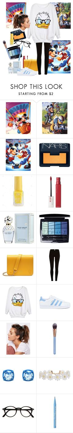 """""""Donald Duck"""" by arts22 ❤ liked on Polyvore featuring NARS Cosmetics, Maybelline, Marc Jacobs, Christian Dior, Mulberry, River Island, adidas, Free People, Luxie and Atelier Swarovski"""