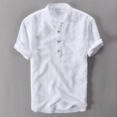 068fd5bc2a1 Linen cotton fashion men shirt white solid casual shirts men brand clothing  shirt men camisa masculina