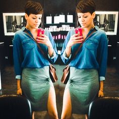 Cute bew! @Ashley S.. Done by @kiyahwright1 ❤️  #thecutlife #shorthair #salonstyle #beauty #style #stunner ✂️ #Padgram