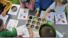 """This is an awesome """"Messy Art"""" party idea. They did it when their son was five.  some really great ideas. My favorites are the paint ball and the cars paint :)"""