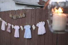 vintage baby shower decor