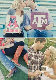 college engagement photos