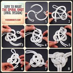 """Reposting JD Lenzen: ... """"The Spiral Knot - Step-by-Step (image) Instructions - in Decorative Fusion Knots. Available now on Amazon."""""""
