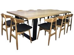 KING DINING TABLE- Hardwood with unique round cornered metal legs - https://www.lumberfurniture.com.au/product/kingdiningtable/