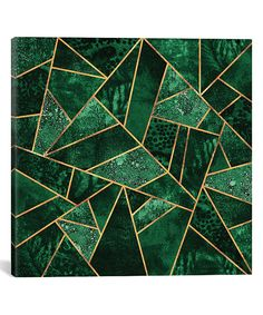 Take a look at this Deep Emerald Geometric Wrapped Canvas today!