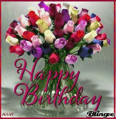 Colorful Bouquet Of Roses Happy Birthday Image colorful rose bouquet birthday quotes birthday images birthday pictures birthday happy birthday birthday gifs happy birthday gifs happy birthday quotes Happy Birthday Didi, Happy Birthday Dear Sister, Happy Birthday Bouquet, Birthday Wishes Flowers, Birthday Wishes Cake, Birthday Cheers, Birthday Gifs, Birthday Quotes, Happy Birthday Roses Images