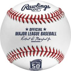 2015 Rawlings Official HOUSTON ASTROS 50TH Anniversary Baseball  New in Box