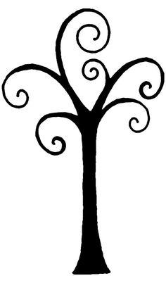 Swirly Tree Silhouette