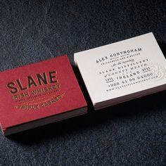 Chad Michael Studio - Slane Irish Whiskey - Typography - Business Cards