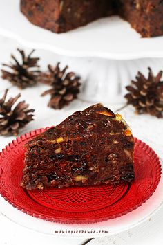 Date Christmas Cake - gluten lactose &sugar free Raw Food Recipes, Cake Recipes, Dessert Recipes, Cooking Recipes, Good Food, Yummy Food, Gingerbread Cake, Vegan Christmas, Lava Cakes