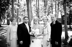 Bride's parents and grandma with the new couple. http://linnealizphotography.com