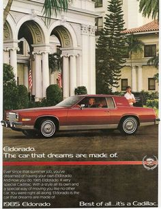 1985 Cadillac Eldorado Coupe ...my Aunt Alice had one of these and she let me drive it-it was a dream car....