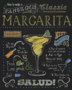 classic margarita Fiona Stokes chalkboard