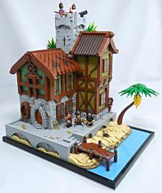 LEGO Castle Western Fort Log Walls Traditional Brown
