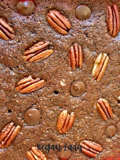 Vegánske bezlepkové brownies s pekanovými orechmi - Vegan Lady Almond, Vegan, Cookies, Chocolate, Baking, Lady, Desserts, Food, Crack Crackers