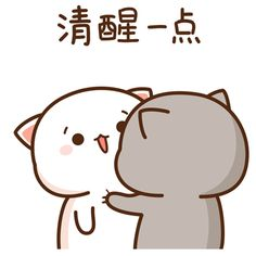 The perfect Couple Shake WakeUp Animated GIF for your conversation. Discover and Share the best GIFs on Tenor. Cute Anime Cat, Cute Bunny Cartoon, Cute Cartoon Images, Cute Kawaii Animals, Cute Love Cartoons, Cute Cat Gif, Kawaii Cat, Cute Cartoon Wallpapers, Cute Cats