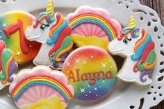 Rainbows and Unicorns! Unicorn Cookie Cutters at http://www.annclarkcookiecutters.com/product/unicorn-head-cookie-cutter