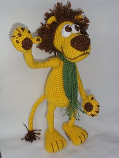 Amigurumi Crochet Pattern Leon the Lion por IlDikko en Etsy