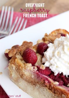 Overnight Raspberry French Toast on SixSistersStuff.com