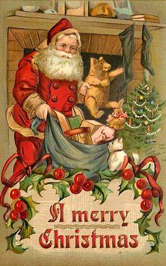 Vintage Santa Greeting
