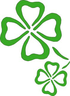 clipart picture of a green shamrock or four leaf clover this image rh pinterest co uk