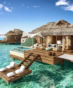 These Overwater Hotel Suites Are INSANE (& All-Inclusive!) travel destinations 2019 These overwater bungalows are giving us vacation GOALS Vacation Places, Vacation Destinations, Dream Vacations, Winter Destinations, Romantic Vacations, Vacation Ideas, Romantic Travel, Dream Vacation Spots, Honeymoon Places