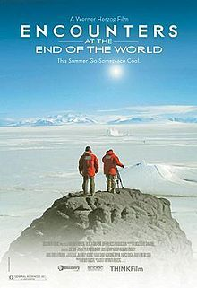 ENCOUNTERS AT THE END OF THE WORLD (2007): Documentarian Werner Herzog has never found a denser cluster of otherness—both natural and human—than at the southernmost tip of the globe. This exploration of Antarctica travels to the top of a live volcano, beneath the frozen sea, and into the peculiar lives of those who live at Ross Island's McMurdo Station. No March of the Penguins soppiness here; Encounters is about a place that's as unforgiving as it is ethereally beautiful.
