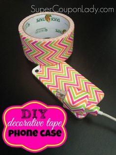 DIY Phone Case Using Washi/Decorative Tape! Learn how ~ http://www.supercouponlady.com/2014/01/diy-iphone-case-using-washi-tape.html/