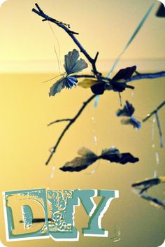 a little bit of lillybit.: diy: butterfly mobile.