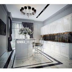 Мои домики. Кухня. Вот не помню, показывала этот финальный вариант... Но так как выбираю сейчас мрамор на него, то пусть будет))) #egorova_marina #domoff_group #domoff_interiors #domof