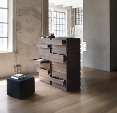 Lema Nine Tall Chest of Drawers -Contemporary Bedroom Furniture at Go Modern, London Contemporary Bedroom Furniture, Fine Furniture, Furniture Design, Chest Of Drawers Design, Drawer Design, Wooden Chest, Drawer Unit, Drawer Fronts, Storage Shelves