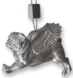 Pugs Might Fly - Tree Decorations (Silver)