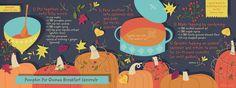 cute website with illustrated recipes. Pumpkin Pie Quinoa Breakfast Casserole by Salli Swindell Breakfast Cassarole, Quinoa Breakfast, Pumpkin Quinoa, Pumpkin Puree, Cute Website, Vegetable Illustration, Good Food, Yummy Food, Food Illustrations